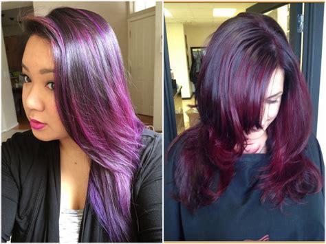 burgundy plum hair color 60 burgundy hair color ideas maroon purple plum