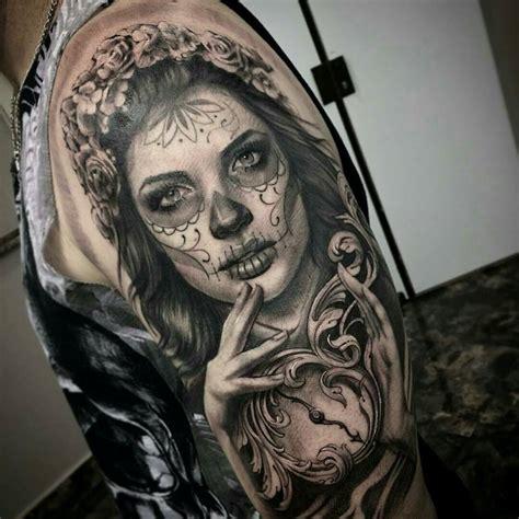 sugar skull face tattoo catrina tattoos tatoo and tatting