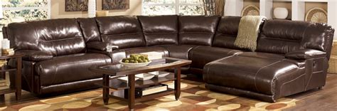 Leather Sectionals With Chaise And Recliner by Living Room Decor With Black Leather Sectional Chaise Sofa With Reclining Furniture Awesome