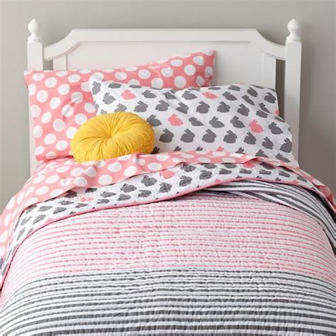 pink and gray bedding grey pink bunny bedding the land of nod