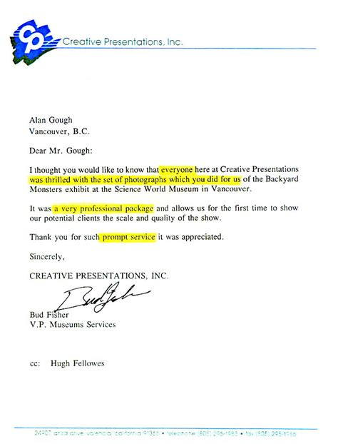 Reference Letter Website specimen presentation of letters issued by company