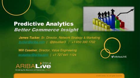 better analytics predictive analytics better commerce insight