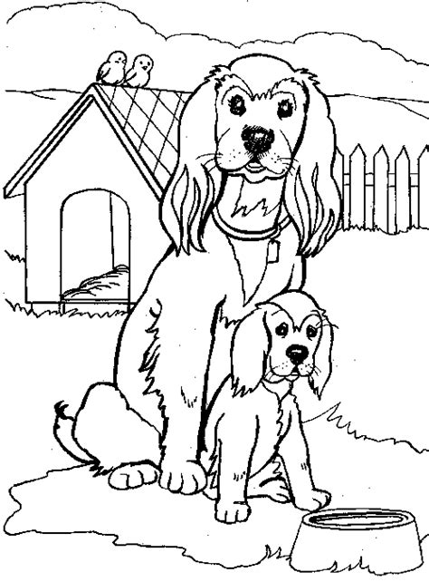 free coloring pages of baby cocker spaniel