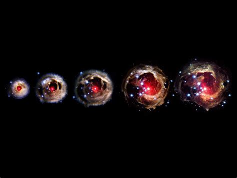an echo of light around v838 monocerotis light from a
