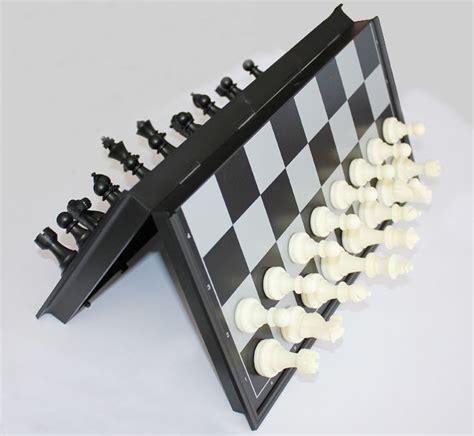 Papan Catur Magnetic Saku 1 permainan papan catur magnet folding chessboard black white jakartanotebook