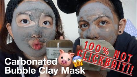 Masker Babi masker mengandung babi nyobain carbonated clay mask 49