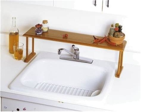 kitchen sink shelves lipper international bamboo the sink shelf modern