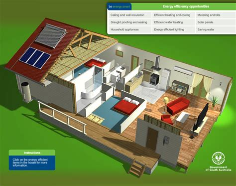 how to build an energy efficient house sa gov au interactive energy efficient home