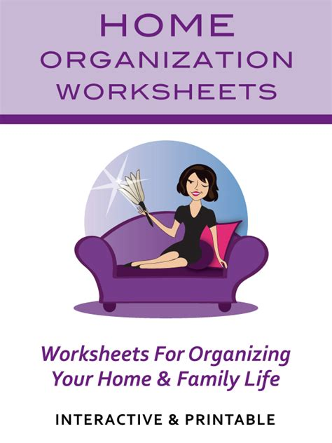 Home Organizing Workbook home organization worksheets household to do lists