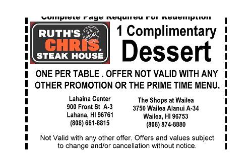 ruth chris steakhouse coupon 2018
