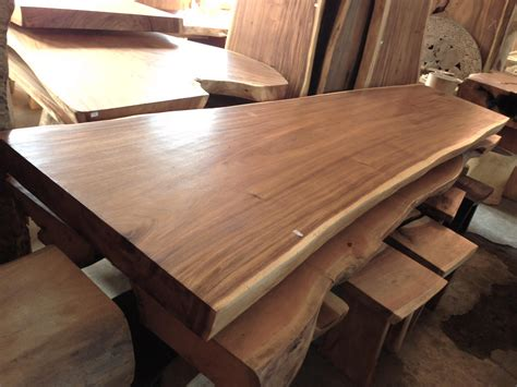 acacia table  cm bali wood slab