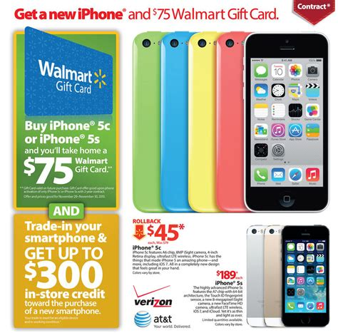 Walmart Iphone Gift Card Black Friday - walmart black friday 2013 ad includes incredible iphone 5s deal