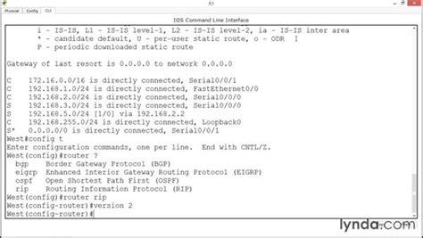 cisco packet tracer tutorial lynda basic ripv2 configuration
