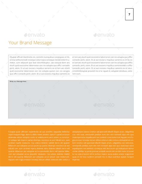 Brand Message Worksheet Template Us Letter By Keboto Graphicriver Brand Message Template