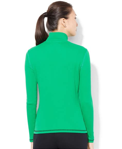 Turtle Neck Two Zipper by ralph mock turtleneck half zip pullover