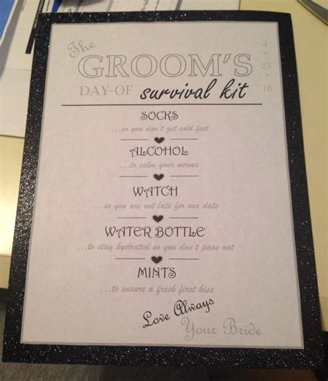 wedding day emergency kit checklist groom groom s survival kit checklist once upon a one