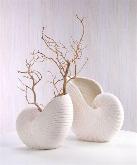 Decorative Sand For Vases by Sand Nautilus Shell Vase Transitional Vases By