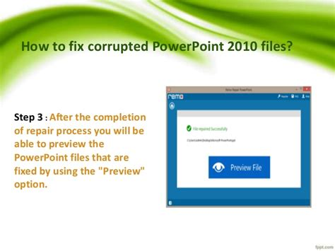 How To Repair Powerpoint Files | how to repair microsoft powerpoint 2010 files