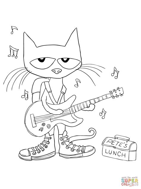 pete the cat coloring page shoes pinterest the world s catalog of ideas