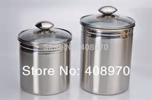 304 stainless steel 2 piece kitchen canister set countertop storage sealed cans with lid