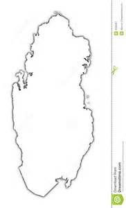 qatar outline map royalty free stock photography image