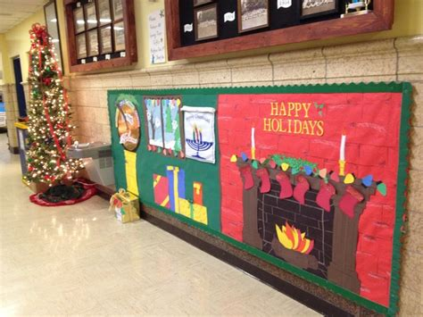 holiday december elementary school bulletin board