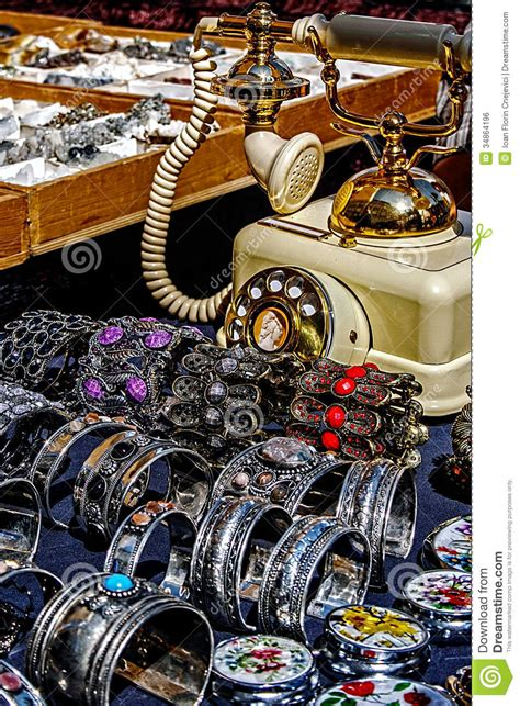 trinkets and trinkets jewelry and antiques royalty free stock image