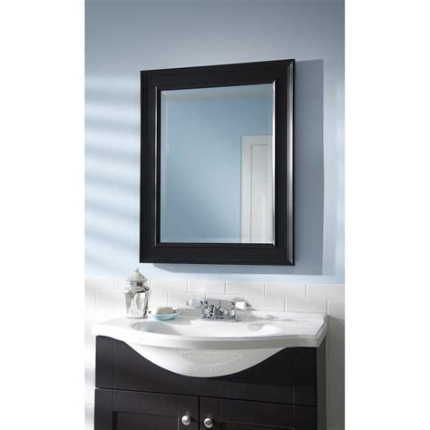 black mirror for bathroom martha stewart living grasmere 30 in x 24 in black