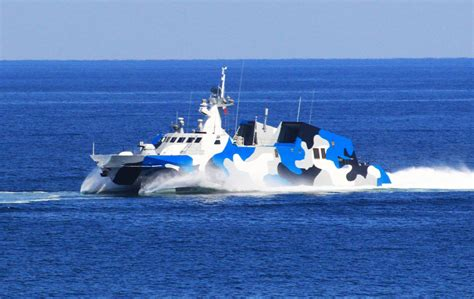 catamaran ship in iran chinese type 022 fast attack missile craft test fires anti