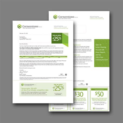 Letter Response Kit Cornerstone Credit Union Identity And Collateral System Annual Report Poster Branch Product