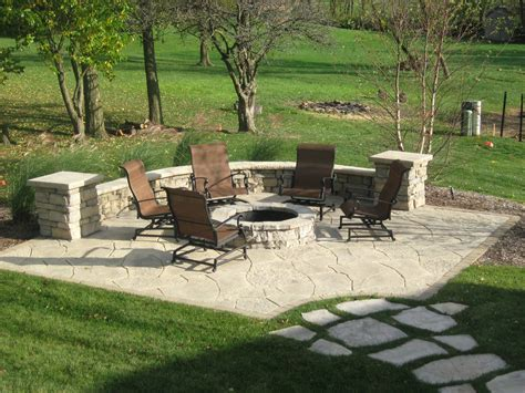 Patio With Firepit Dans Custom Brick Gallery Dans Custom Brickwork Inc