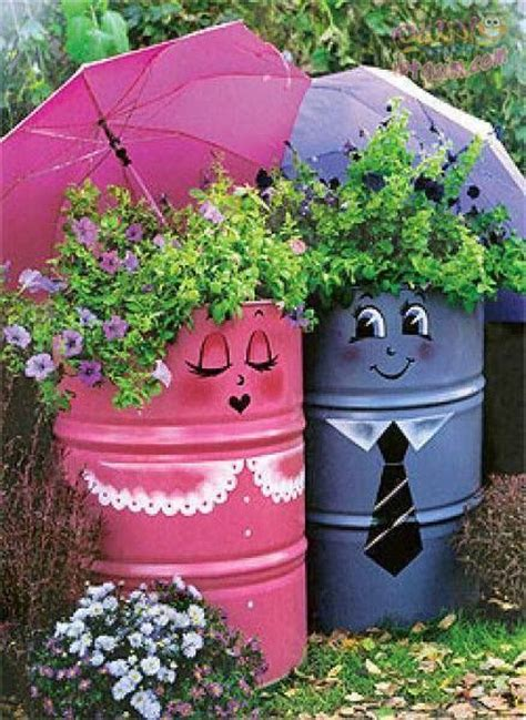whimsical planters container gardening