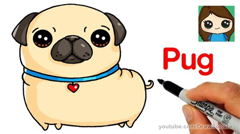 how to draw a pug for how to draw a pug easy