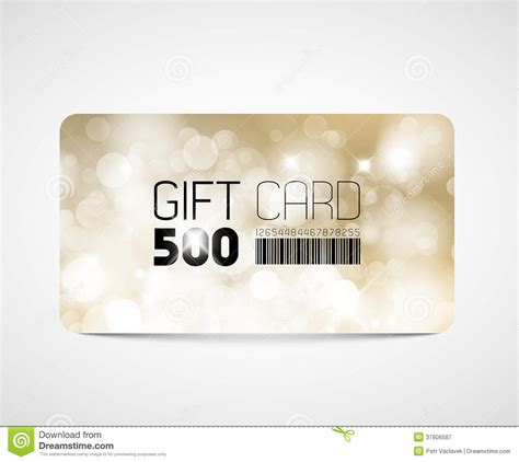gift card image template modern gift card template stock vector illustration of