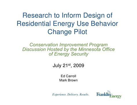research to inform design of residential energy use