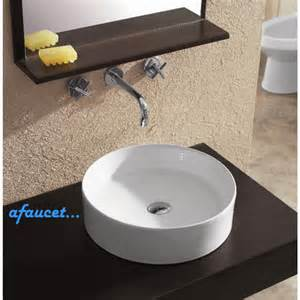 Bathroom Vessel Sink Countertop European Design White Black Porcelain Ceramic