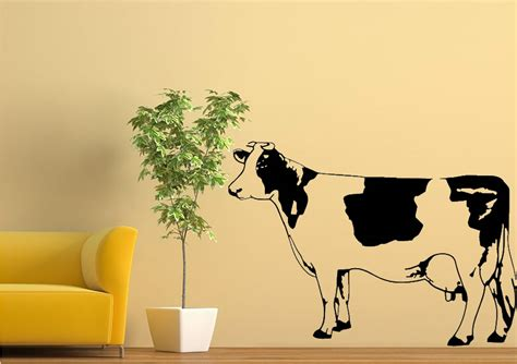 cow wall stickers cow black and white wall stickers adhesive wall