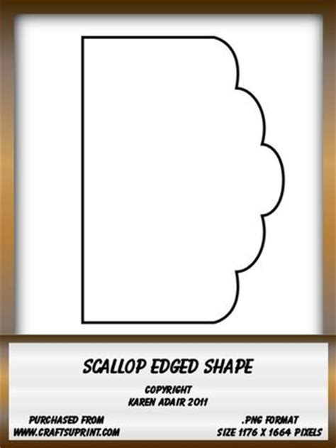 Scalloped Edge Large With Point Card Template by Scallop Edge Shape Cup175430 168 Craftsuprint