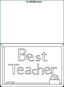 best teacher card coloring