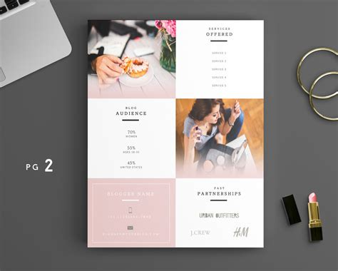 departures home and design media kit beauty blogger pink media kit template diy media kit