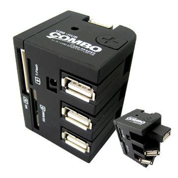 Usb 20 Hub And Card Reader Combo combo card reader