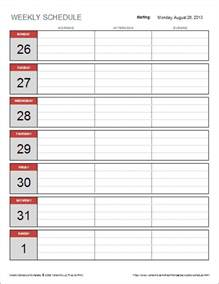 template for schedule free weekly schedule template for excel