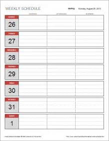 simple schedule template free weekly schedule template for excel