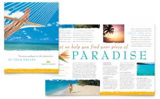 travel agency brochure template word amp publisher