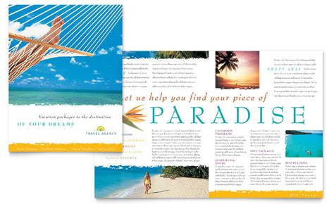 Word Travel Brochure Template travel agency brochure template word publisher