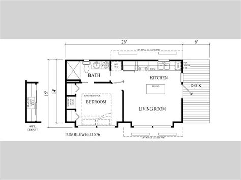 tumbleweed tiny house floor plan