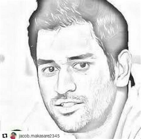 M S Dhoni Sketches by 115 Best Dhoni Images On Cricket Ms And Draw