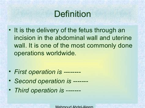 3rd c section complications caesarean section