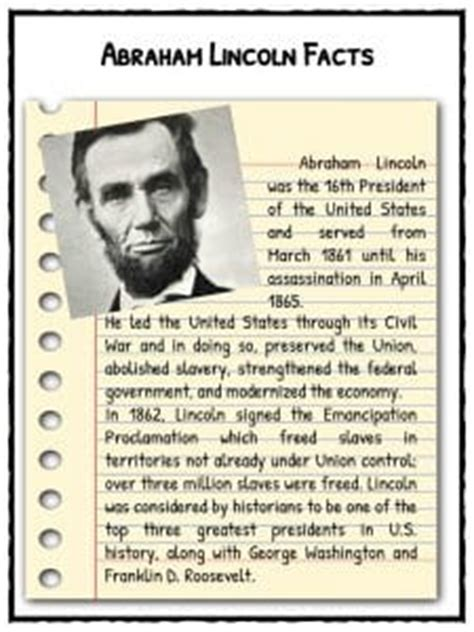biography of abraham lincoln for third graders kids facts about abraham lincoln kids matttroy