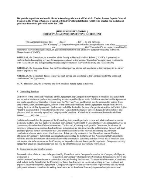 consultation agreement template consulting contract template free premium